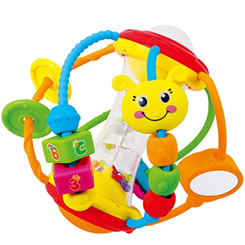 Early Education 6 Month Old Baby Toy Activity Rattles Ball Toy For Children...