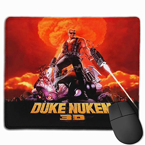 Duke Nukem 3D Retro Game Print (hoher Kontrast) genähte Kanten Laptop Gaming Mauspad Computer Mauspad