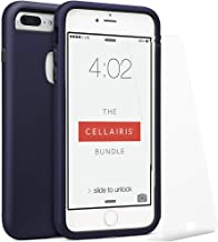 Cellairis The Bundle, Cell Phone Case for Apple iPhone 7 Plus (Navy Blue) - Triple Layer Protection - with a Scratch Resistant Tempered Glass Screen Protector