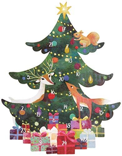 Adventskalender mit Stanzung Tannenbaum