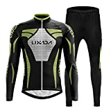 Lixada Men's Cycling Jersey Set Winter Long Sleeve Thermal Fleece Cycling Clothing Windproof Cycling...