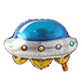 Earth Balloon foil Helium UFO Rocket Astronaut Model Science Fiction Interstellar Model Outer Space Birthday Party Decoration (UFO)