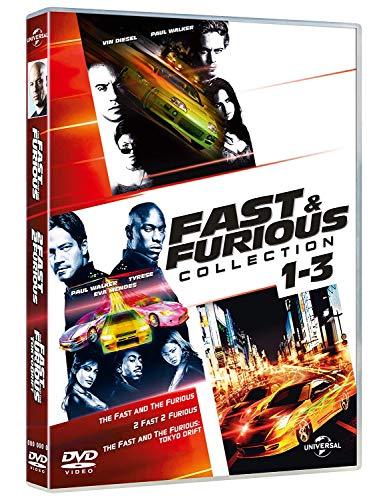 VIN DIESEL,WALKER,RODRIGUEZ,MENDES,BREWSTER,LEVINE,RULE,YUNE - FAST & FURIOUS 1-3 :TUNING COLL. (BOX 3 DV) (FF+FF2+FF3) (3 DVD)
