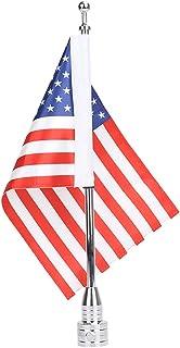 Espear Motocycle Flag Mount and Flag, 6 x 9`` USA Flag with Adjustable Flags Flagpole Holder Luggage Racks for Harley Davidson Honda Goldwing CB VTX CBR Yamaha