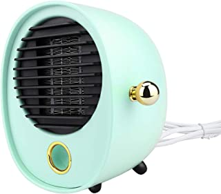 Deajing Calefactor Eléctrico Portátil Calentador Calefactor de Aire Caliente Termoventiladores de Ventilador Calentador de para Hogar Oficina Mini Silencio Calentador de Aire (Verde)