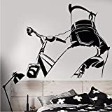 LLLYZZ Vinilo Tatuajes de Pared Sexy Chica Desnuda En Bicicleta Hermoso Cuerpo Pegatinas Extraíble Mural de Arte Para el Dormitorio Sala de estar Decoración 56 * 63 cm