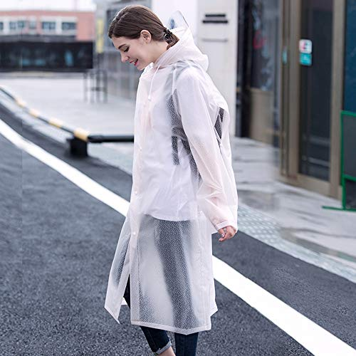 QFFL Imperméable Poncho long imperméable pour les hommes et les femmes en plein air seul voyage imperméable 6 couleurs taille facultative en option imperméable ( Couleur : B , taille : Xl )