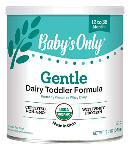 Baby's Only Organic Whey & Dairy Protein Gentle Toddler Formula, 12.7 Oz (Pack of 6)   Non-GMO   USDA Organic   Clean Label Project Verified