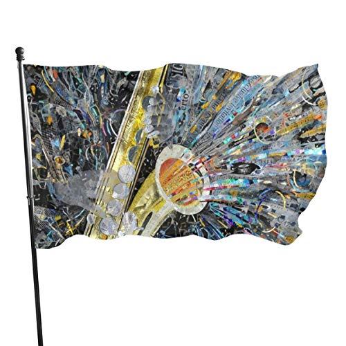 N/A USA Guard Vlag Banner Welkom Vlaggen Bloed Art Muziek Jazz Saxofoon Yard voor Vakantie Patio Verjaardag Decoratie 3x5 Ft