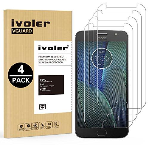 iVoler [4 Pack] Pellicola Vetro Temperato per Motorola Moto G5s Plus, Pellicola Protettiva, Protezione per Schermo