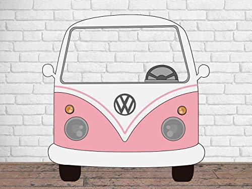 Photocall para Bodas en Cartón Furgoneta Rosa Claro 156x150cm | Photocall Furgoneta Rosa Claro | Photocall Económico y Original | Photocall Troquelado