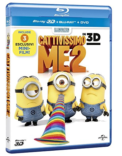 Cattivissimo me 2 [Blu-ray + Blu-ray 3D + DVD] [IT Import]