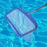 Pbzydu Schwimmbadabschäumer, verstärkter Kunststoffrahmen Poolblattnetz Schmutz Fallende Blätter Reinigungsnetzwerkzeug