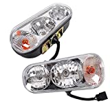 Universal Snow Plow Lights Headlight Halogen headlamp lamp KIT Kit Compatible with Boss Western Meyer Blizzard Curtis Snowdog Replace for 1311100