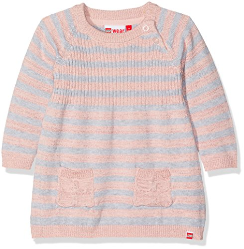 Lego Wear Duplo Girl Katlyn 601-Strickkleid Robe, Rosa (Rose 408), 3 Ans Bébé Fille