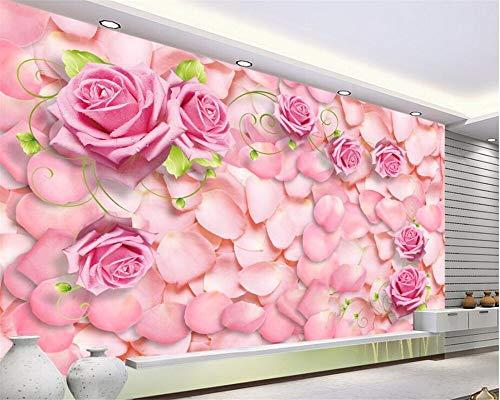 Hintergrundbild 3D Wallpaper Wohnzimmer Moderne wohnzimmer hintergrund wand 3d wallpaper mural rosenblätter romantische schöne moderne stilvolle 3d wallpaper