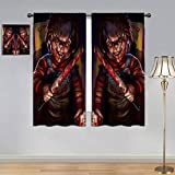 ARYAGO Cortina de ventana para habitación de niños, cortina, cortina de Halloween de película de...