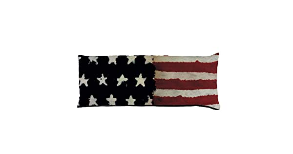 Multicolor Buckle Down Stars /& Stripes Painting Throw Pillow