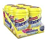Mentos Kaugummi Full Fruit, 6er Box Kaugummi-Dragees, Zuckerfrei in drei fruchtigen Geschmackssorten -