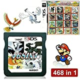 468 in 1 Game Cartridge, DS Game Pack Card Compilations, Super Combo Multicart for Nintendo DS, NDSL, NDSi, NDSi LL/XL, 3DS, 3DSLL/XL, New 3DS, New 3DS LL/XL, 2DS, New 2DS LL/XL
