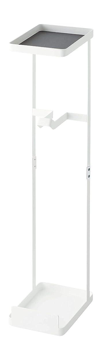 要件切断する建てる山崎実業(Yamazaki) 補助便座スタンド ホワイト 約W12XH16XD58cm プレート 補助便座 収納 トイレ 4439