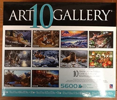 Art 10 Gallery Deluxe Jigsaw 5600 piece Puzzles (Teal) by The canadian group