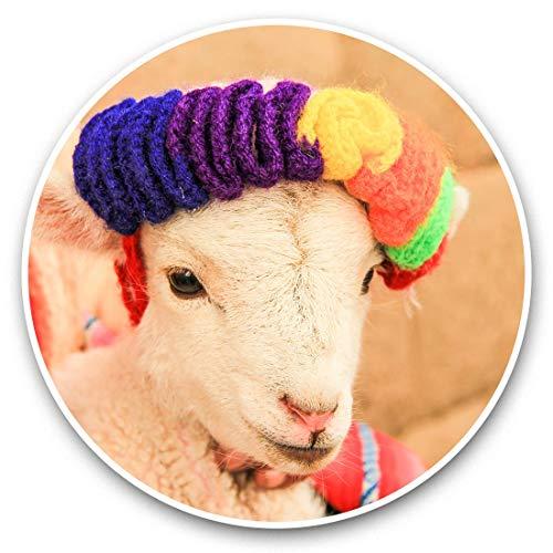 Impresionantes pegatinas de vinilo (juego de 2) 20 cm – Cuzco Perú oveja Andes Divertidas calcomanías para portátiles, tabletas, equipaje, reserva de chatarras, frigoríficos, regalo fresco #44750