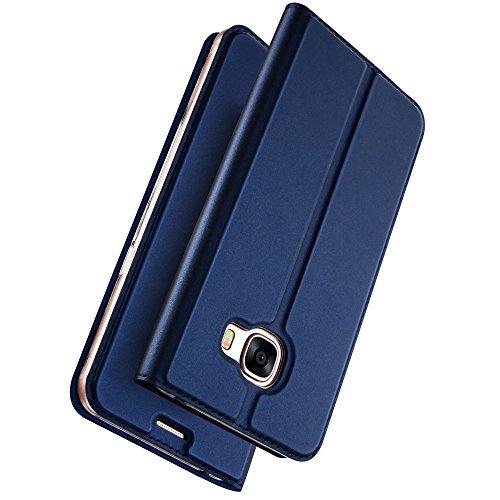 Dux Ducis Blaues Slim TPU Booklet kompatibel mit Samsung Galaxy A5 (2017)
