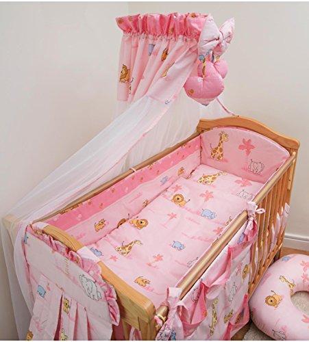 8 pièces Parure de lit bébé avec Bumper complète pour 140 x 70 cm Lit en Motif 11