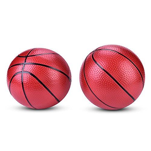 Dilwe Ballon de basket gonflable pour adolescents ou enfants - Balles de sport pour intérieur/extérieur - Jouets fantaisie - 16,3 cm - 5,1 cm