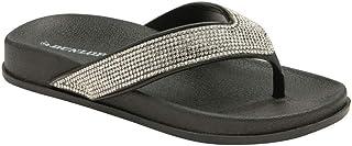 Dunlop Ladies Low Wedge Multi Platform Summer Slip On Toe Post Flipflops Sandals Shoes Size 3-8
