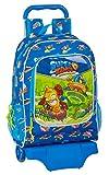 Safta Mochila Infantil de Superzings Serie 5, Modelo 522 con Carro 905, 320x140x420 mm, color Azul