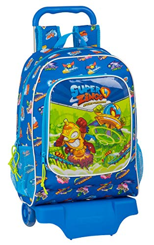 Safta Mochila Infantil de Superzings Serie 5, Modelo 522 con Carro 905, 320x140x420 mm, color Azul