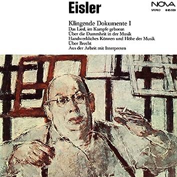 Eisler: Klingende Dokumente I