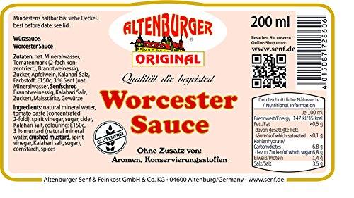 Altenburger Original Worcester Sauce, 200ml, Worcestershire Sauce glutenfrei, laktosefrei, vegan, ohne Zusatz von Aromen - 2