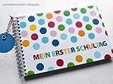 Gästebuch DIN A5 Mein erster Schultag Bunte Punkte