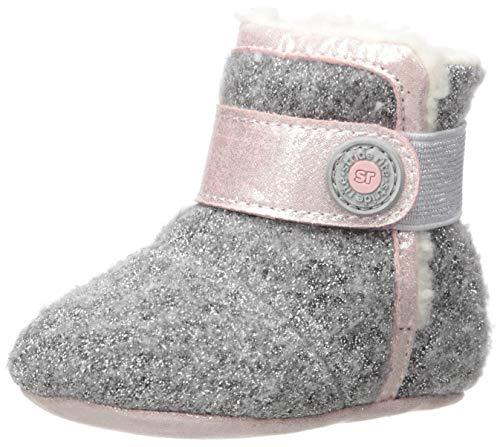Stride Rite Girl s SR Cozy Carmen Fashion Boot, grey pink, 2 M US Infant