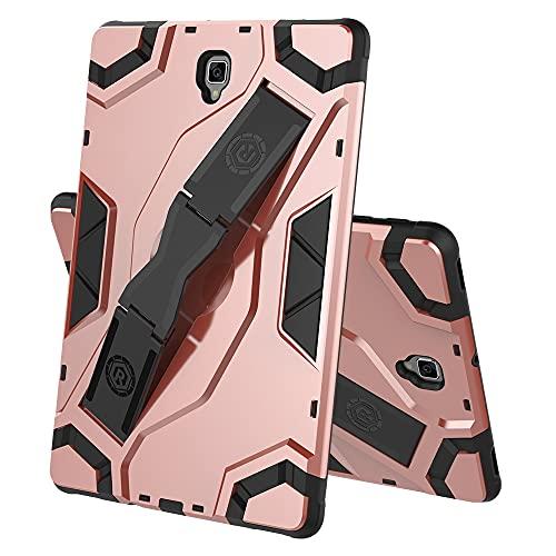 Tablets Duras Caja de tabletas para Samsung Galaxy Tab S4 T835, TPU + PC Cubierta Protectora multifunción a Prueba de Golpes de PC con Soporte de asa Plegable Tablets Fundas (Color : Pink)