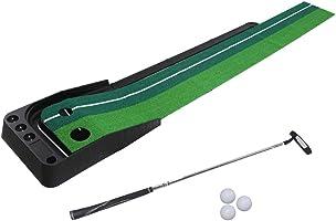 Golf Putting Mat Portable Auto Return Practice Putter Trainer Indoor Outdoor