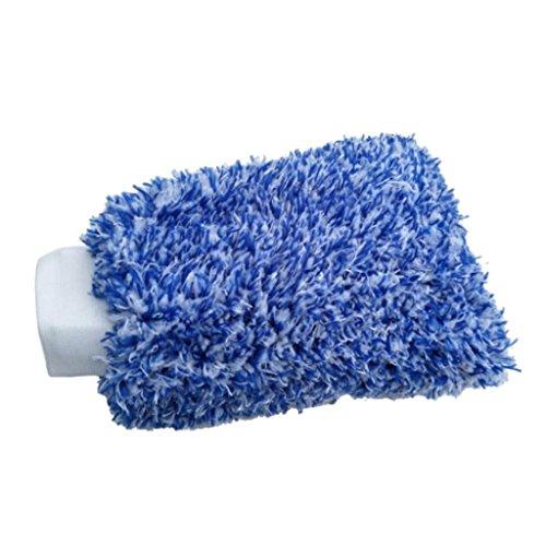Bodhi2000_ _ en Microfibre Chenille Gant de Lavage et Cire Care Gants de Toilette, Auto Gants de Lavage de Voiture Outil de Nettoyage, Microfibre, Bleu, Taille Unique