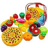 Ubitree 25 Sück Kinder Küchenspielzeug Schneiden Lebensmittel Obst Gemüse Spielzeug, Spiel Essen...