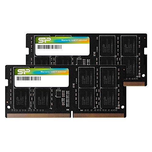 Silicon Power 32 GB (16 GB x 2) DDR4 2666 MHz 260-pin CL19 1,2 V SODIMM Laptop Speicher kompatibel mit Intel Skylake-X Plattformen/Kaby Lake-X CPU Serie Motherboards