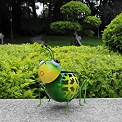 ★Solar Grasshopper Statue : This solar figurines lights charges during day and turn on automatically at night. ★Easy to Use : With no wiring necessary ,the metal animal garden art could be installed anywhere if you like ★Dimensions : 6.3 x 6.7 x 6.3 ...