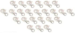24 Sterling Silver .925 Lobster Claw Clasps Jewelry Findings 9mm x 5mm
