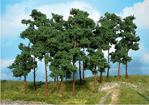 Heki 1954 Tannenbäume, 5 Stück, Höhe 20 cm, Mehrfarbig