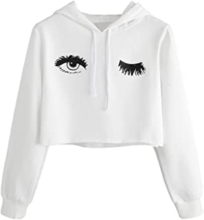 HYIRI Printed Sweatshirt Long Sleeve Pullover Tops,Womens Hoodie Eye Blouse