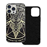 Caso para iPhone 12 Baphomet Pagane Goat Gold and White Mobile Phone Case for iPhone 12 Ip12-6.1 iPhone Ip12 Pro-6.1 iPhone Ip12mini-5.4 iPhone Ip12pro MAX-6.7 Accessories