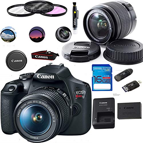 Canon EOS Rebel T7 DSLR Camera with 18-55mm Lens   Built-in Wi-Fi 24.1 MP CMOS Sensor    DIGIC 4+ Image Processor and Full HD Videos - Expo Basic Accessories Bundle