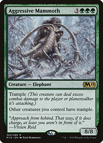 Magic: The Gathering - Aggressive Mammoth - Planeswalker Deck Exclusive - Core Set 2019