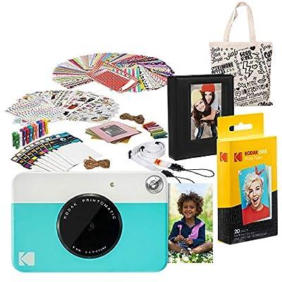 Kodak PRINTOMATIC Instant Print Camera (Blue) Deluxe Bundle from Kodak